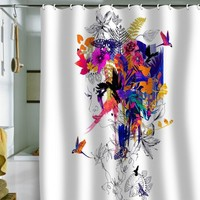 DENY Designs Holly Sharpe Tropical Girl Colourway Shower Curtain, 69 by 72
