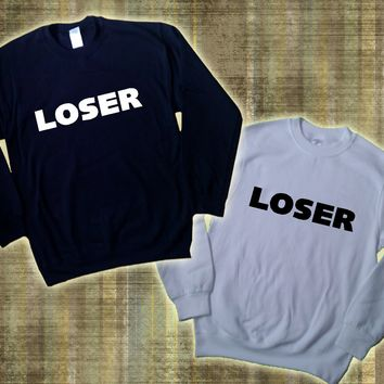 LOSER SWEATER JUMPER SWEATSHIRT TUMBLR SWAG SWAGGER DOPE HIPSTER TOP UNISEX