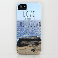 LOVE DEEP  iPhone Case by Tara Yarte  | Society6