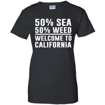 Welcome to California Funny Weed T-shirt T-Shirt