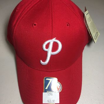 PHILADELPHIA PHILLIES AMERICAN NEEDLE MLB COOPERSTOWN COLLECTION RED FITTED HAT