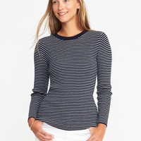 Rib-Knit Zip-Back Sweater for Women | Old Navy
