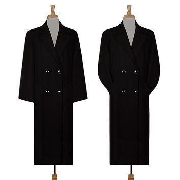 Womens Coat- Winter Coat- Wool Coat Women- Maxi Coat- Black Wool Coat- Formal Coat
