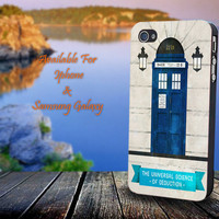 Doctor Who and Sherlock - Print on hard plastic for iPhone case. Please choose the option.