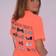 Southern Drift Bow Tie Tee ~Neon Red Orange