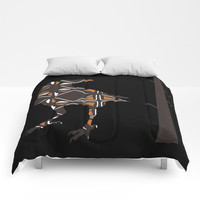 Totemic Crow Comforters by Grimalkin Studio