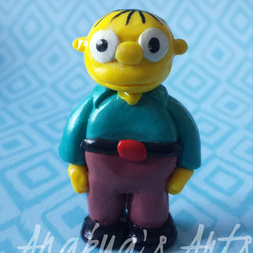 The Simpson, Figure, Figurine, Ralph, Simpsons, Yellow, Doll, Clay, Fimo, Decoration, Vintage, Collectibles, Toy, Television