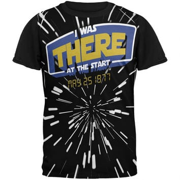 There At The Start Hyper Space Adult Black Back T-Shirt