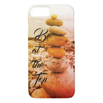 Be at the Top beach Pebbles Cell Cover