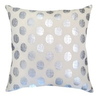 Colordrift Marquee Dazzle Dots Throw Pillow (Silver)