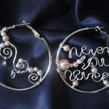 fashion earrings- never say never