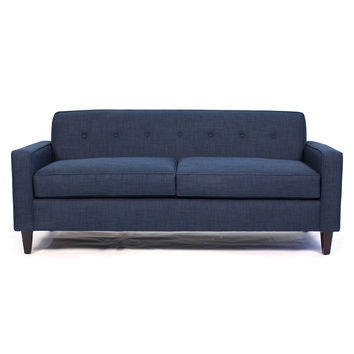 Soho Mid Century Modern Apartment Size Sofa BLUE