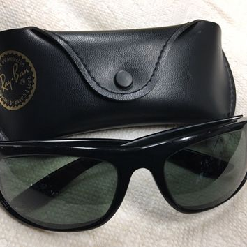 901ce995214 Vtg B L Ray Ban L2870 Black Ebony Balorama Wrap Sunglasses. 80 s