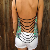 Cage Back Chevron Top