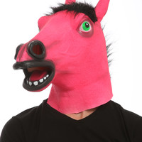 Red Horse Blacklight Reactive Mask