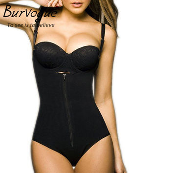 Burvogue Hot Shapers Women Latex Waist Cincher Shaper Slimming Zipper&Buckle Full Body Shaper and Tummy Control Waist Shapewear