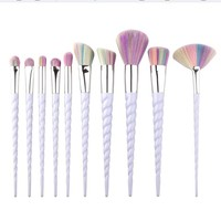 10 pcs Pro Unicorn Makeup Brushes