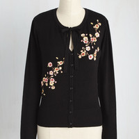 Top to Blossom Cardigan in Black | Mod Retro Vintage Sweaters | ModCloth.com