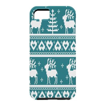 Natt Knitting Blue Deer Cell Phone Case
