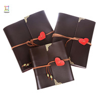 PU Leather 30 Black Paper Sheets Love Heart Theme Wedding DIY Album Handmade Vintage Photo foto Scrapbooking Album 8 10 12 Inch