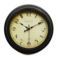 10 inch vintage bedroom decoration crafts clock wall with clock movement mechanism silent home design frozen clock reloj pared