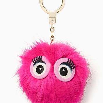 monster pouf keychain