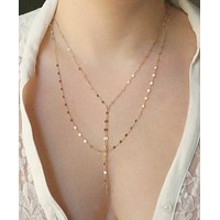 Double Strand Y Necklace