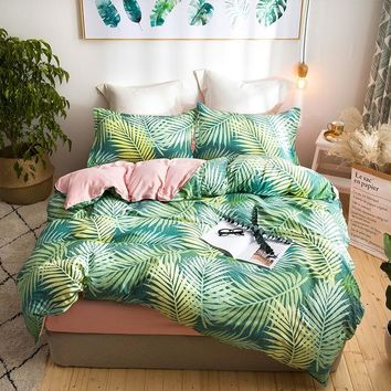 Tropical Plants Palm Leaves Bedding Sets Single Queen King Size Duvet Cover Set Bed Linen Quilt Cover