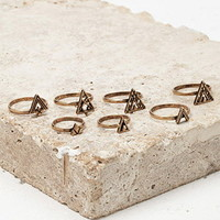 Triangle Midi Ring Set