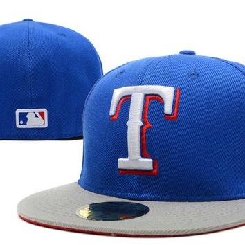 Texas Rangers New Era 59FIFTY MLB Cap Blue-White