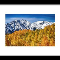 Colorado Rocky Mountain Autumn Magic Framed Print