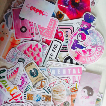 MYSTERY surprise set of 15 stickers grab bag by luxemermaid