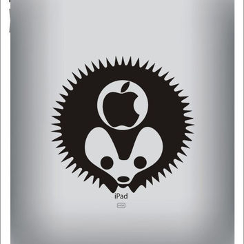 Hedgehog--iPad sticker iPad decals iPad skin decals iPad cover Apple vinyl Decals for iPad1 / iPad2 / iPad 3