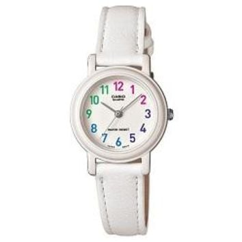 Casio Women's LQ-139L-7BCF Analog Japanese Quartz White Synthetic leather Watch