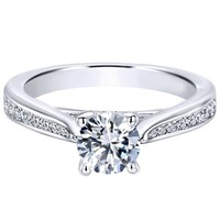 "Gabriel ""Hannah"" Tapered Diamond Channel Set Engagement Ring"
