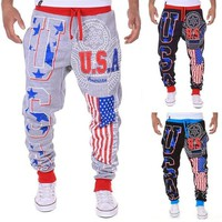 Pants  Sports Gym Sweatpants Printing Casual Trouser Hip Hop Jogger BodyBuilding Fitness Sweatpants