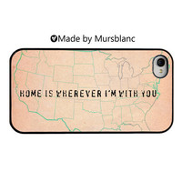 iphone case. Home Is Wherever I'm With you, Wanderlust, USA, America, Travel, Adventure, Military Families, Long Distance