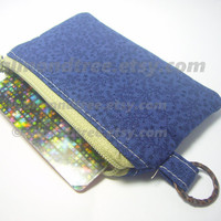 Leaves small zip purse id1340550, coin zippered change purse, wallet, padded gadget cosmetic toiletry pouch sewing accessories, card holder