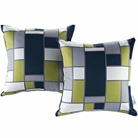 Rectangle Modway Two Piece Outdoor Patio Pillow Set