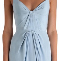 ZIMMERMANN Blue Silk Folded Long Formal Dress Size 4 (S) 47% off retail