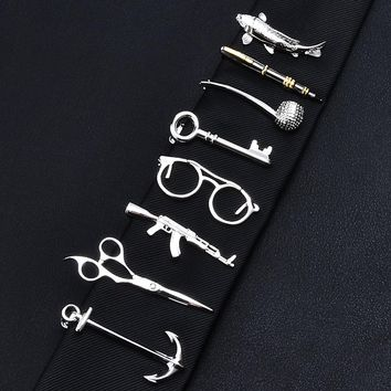 Men's Unique & Different Tie Clips - Your choice of 19 Different Styles