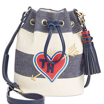 Tommy Hilfiger Summer of Love Rugby Small Bucket Crossbody - Handbags & Accessories - Macy's