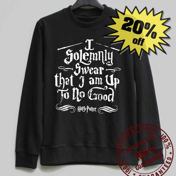 Harry Potter Shirt I Solemnly Swear Sweatshirt Sweater Shirt – Size XS S M L XL