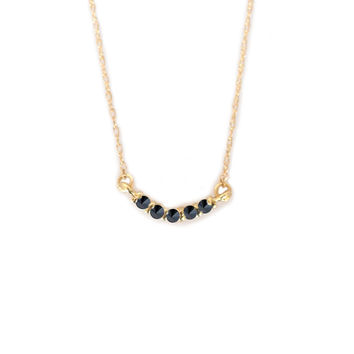 14kt Gold Black Diamond Curve Pendant