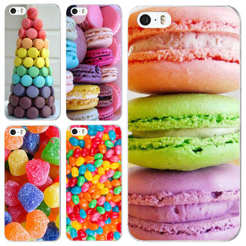 phone case for iphone 6 6s 5 5s SE new arrival hot dessert ice cream Macarons fruits strawberry sweet emboss hard cover UV print