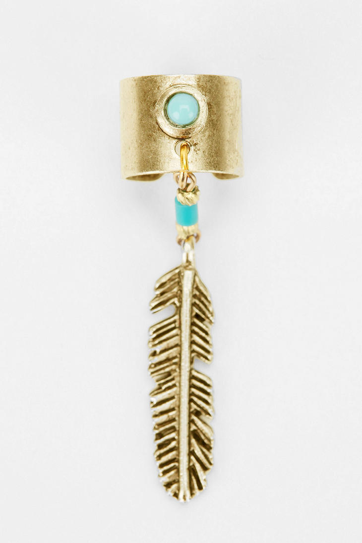 Yuma Feather Cuff Earring
