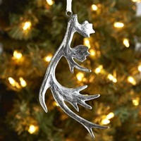 Antler Ornament - Silver