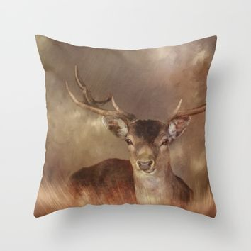 All Creatures Great & Small Throw Pillow by Theresa Campbell D'August Art