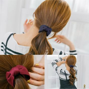 M MISM 2017 New Cloth Hair Claw Solid Color Bow Ties Hairpins Girls Ponytail Headwear Banana Hair Clips Accessories For Women