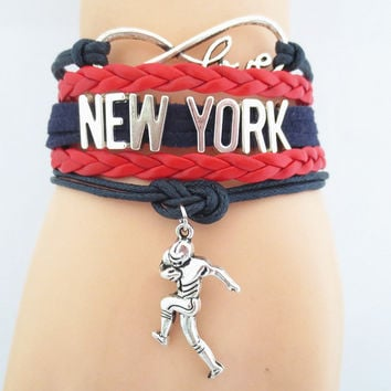 Infinity Love NFL New York Giants Team Bracelet ML1009